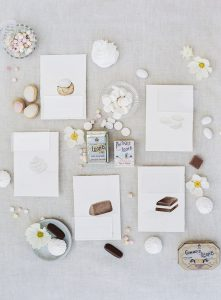Wedding flat lay with products dedicated to the city of Turin